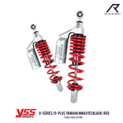 โช้คคู่ YSS G-SERIES/G- PLUS YAMAHA NMAX155 BLACK/RED (TC302-335TL)