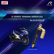 YSS G-SERIES YAMAHA AEROX 155 BLACK/GOLD (TC302-305TL-02-883M)