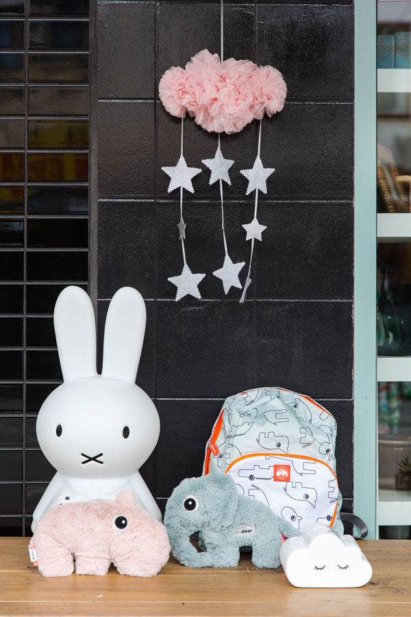 image of stuffed animal toys and backpack