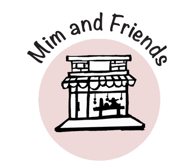 mim and friends logo in soft pink
