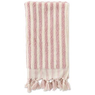 Kip & Co Rose & White Stripes Hand Towel