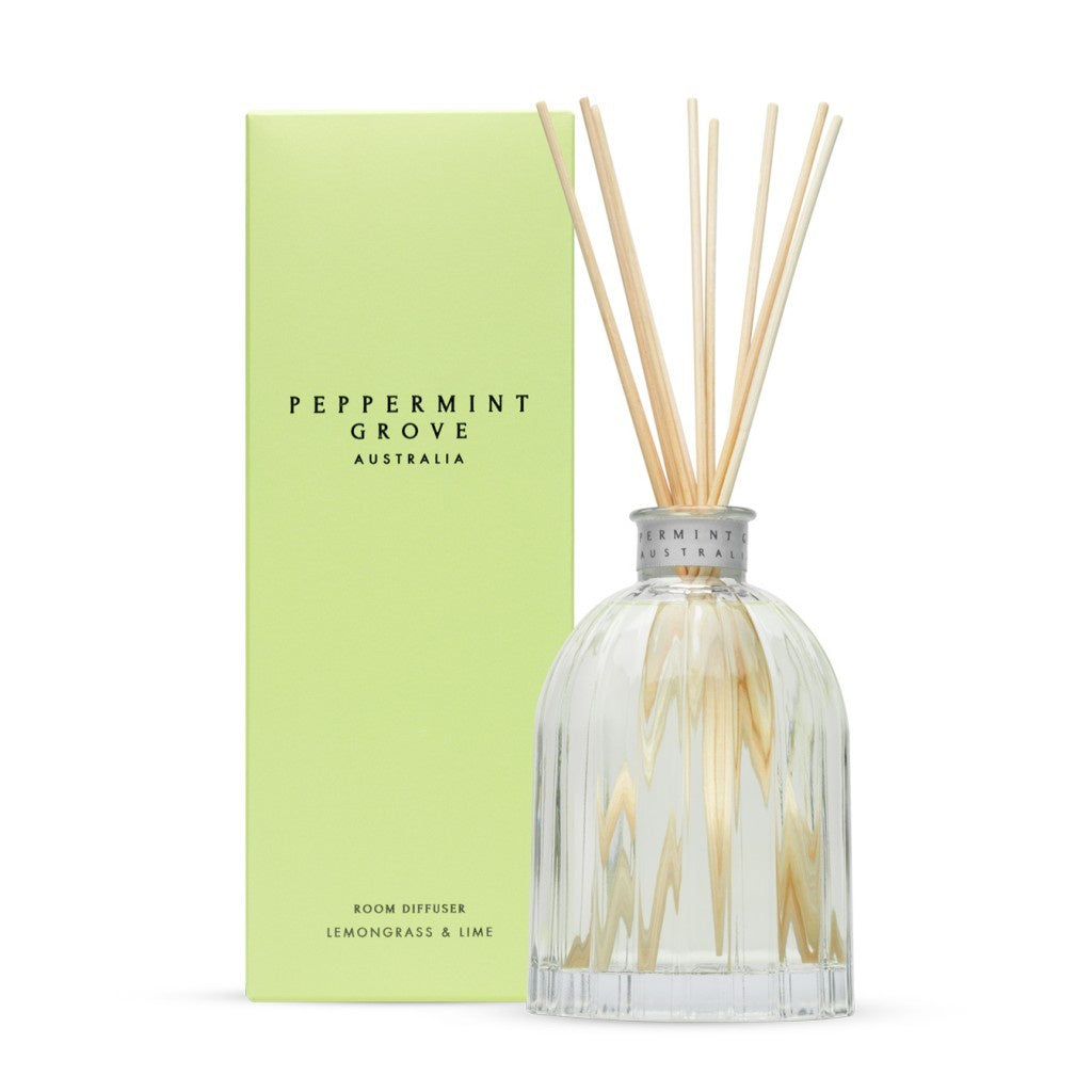 Peppermint Grove Diffuser - Lemongrass & Lime