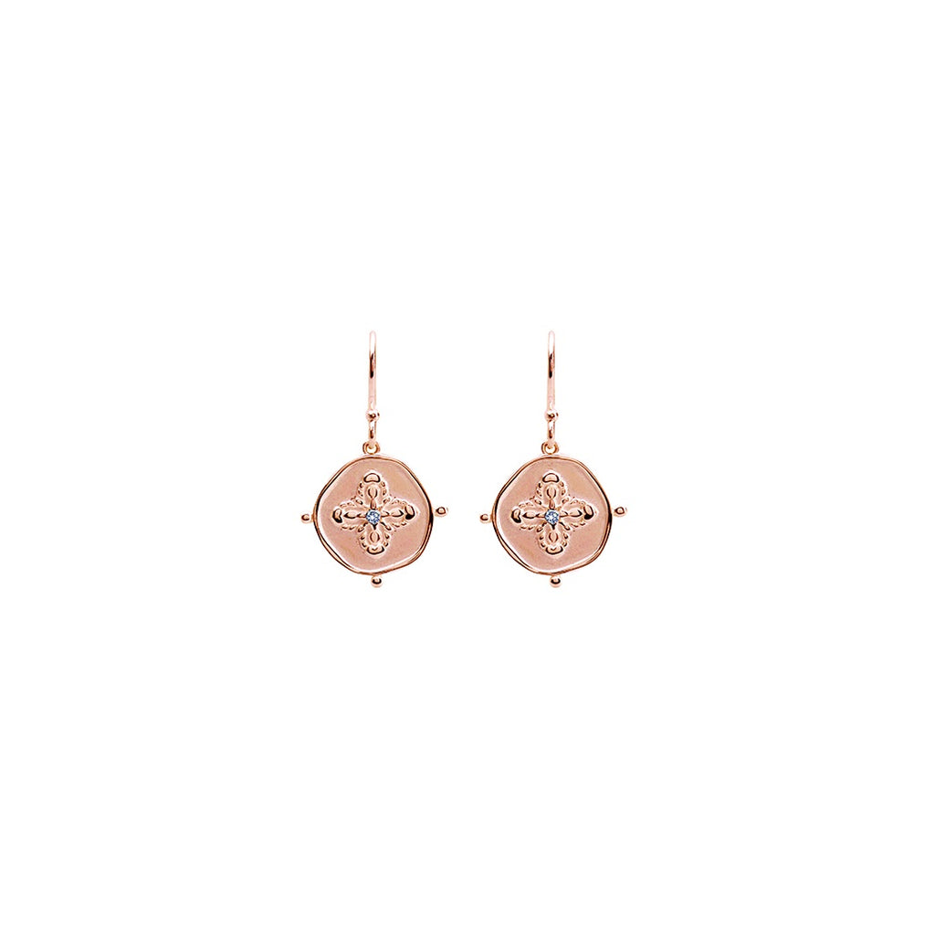 Murkani Sahara Small Earring Rose Gold with White Topaz