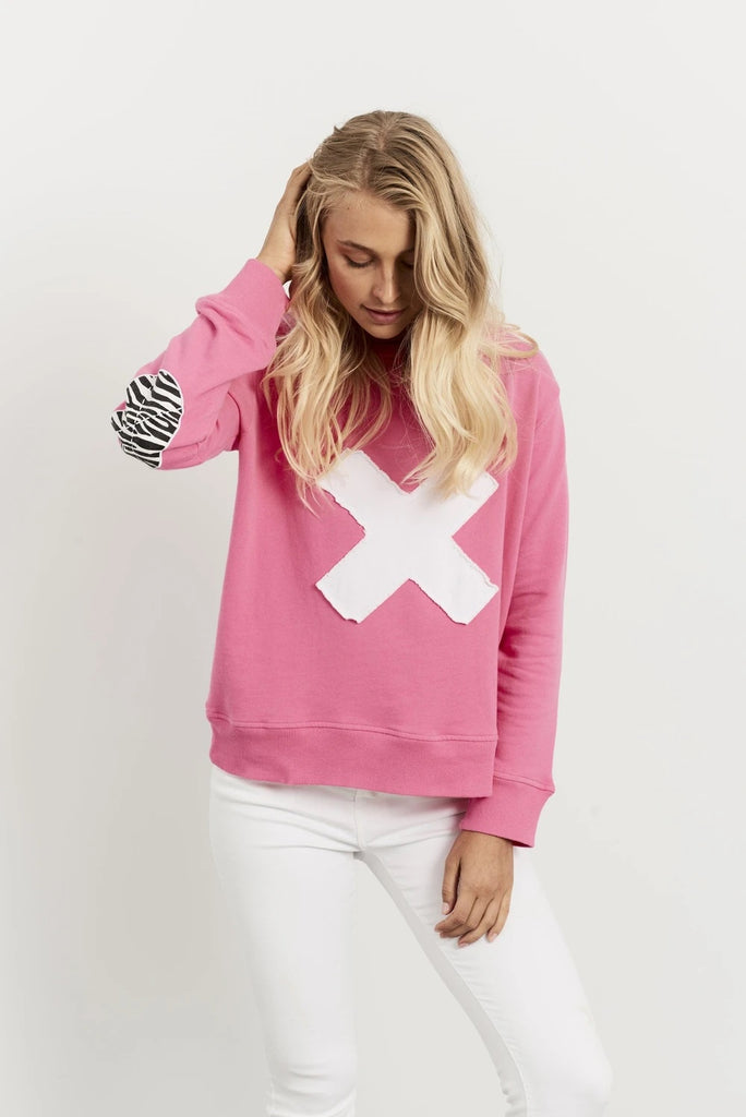 1971 Zebra Cross Hot Pink Windcheater