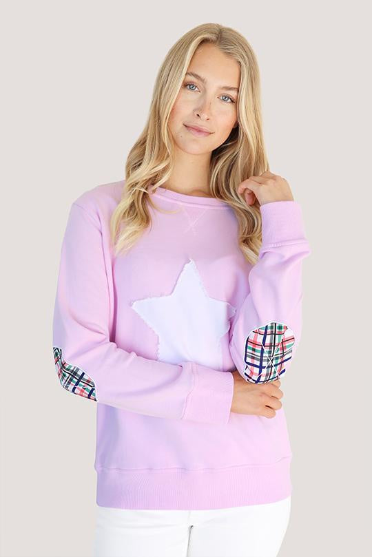 1971 Bright Plaid Star Powder Pink Windcheater