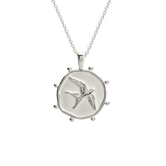 Murkani Freedom Necklace In Sterling Silver (Swallow)