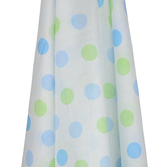Emotion & Kids Blue & Green Gelati Spots Muslin