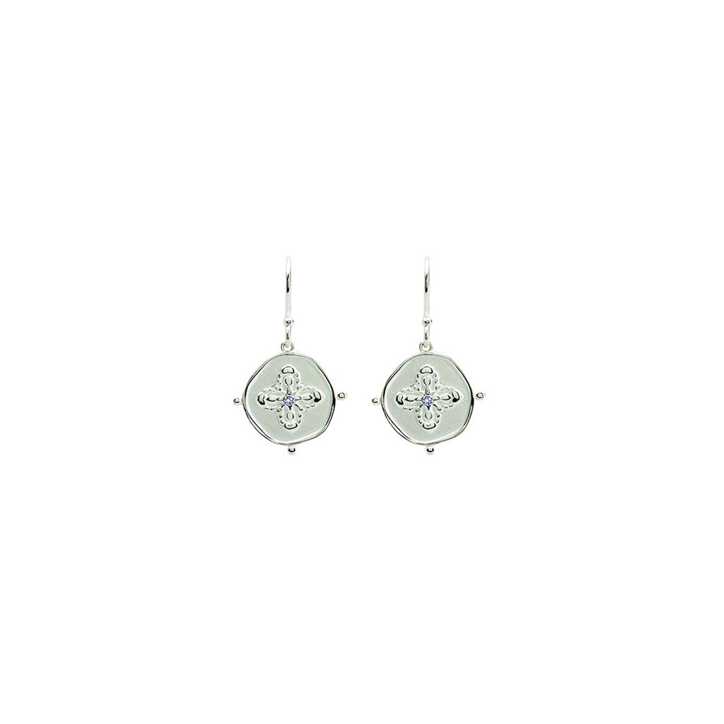 Murkani Sahara Small Earring Sterling Silver with White Topaz