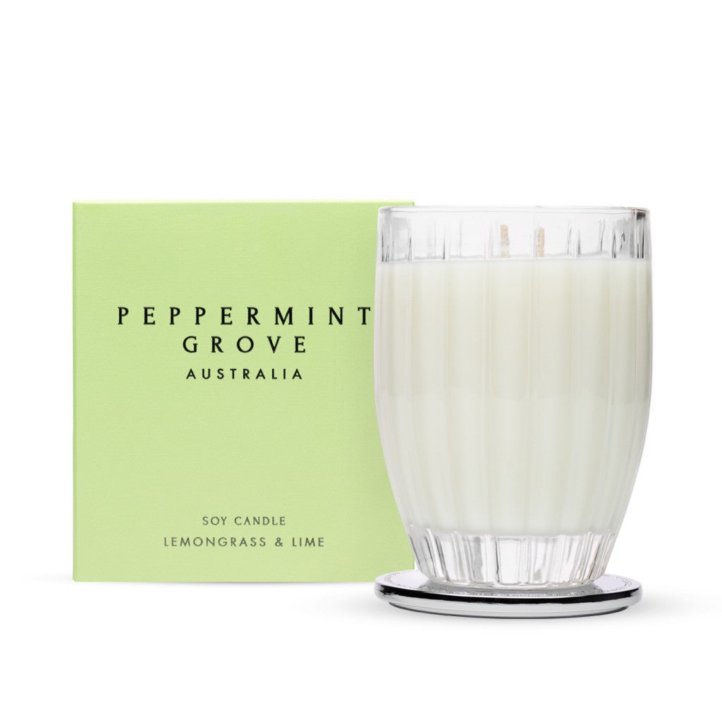 Peppermint Grove Large Candle - Lemongrass & Lime