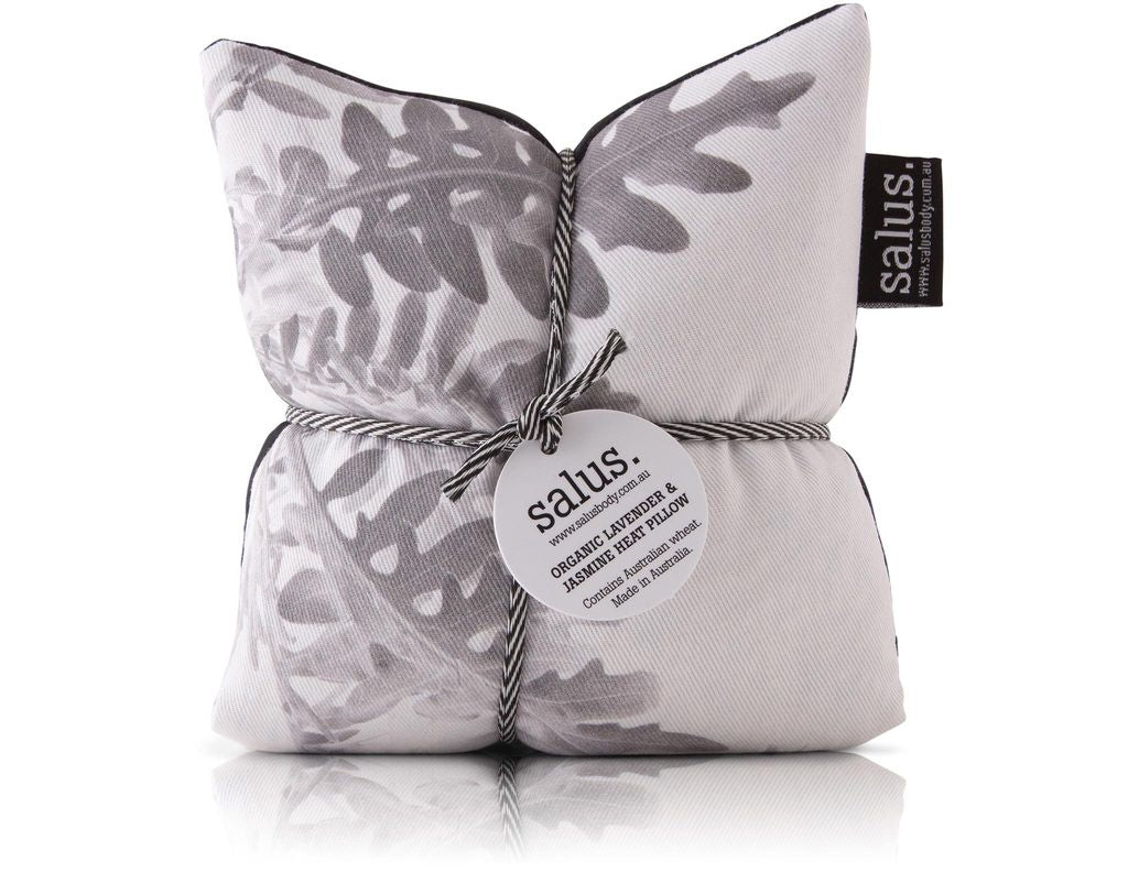Salus Organic Lavender & Jasmine Heat Pillow Grey Botanical
