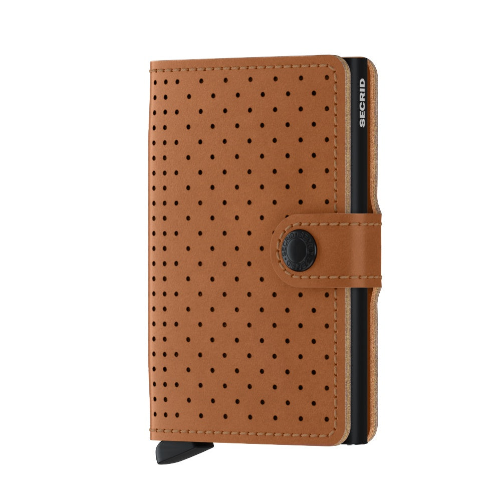 Secrid Mini Wallet Cognac Perforated
