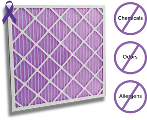 Colorfil HVAC Furnace Filter eliminates chemicals and odors from the air.
