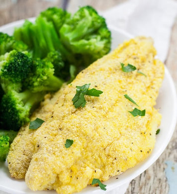Lemon Pepper Catfish with Steamed Broccoli