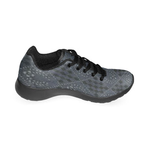 Grey and Black Laurel Wreaths In Diamonds Design Men's Sneakers (Model020) (Large Size)