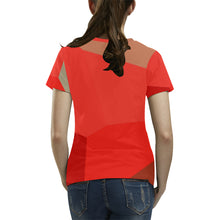 Red, Brown and Orange Shades With Survivor 1 Text © Women's All Over Print T-shirt (USA Size) (Model T40)
