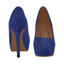 Blue Streak Design © Women's High Heels (Model 044)