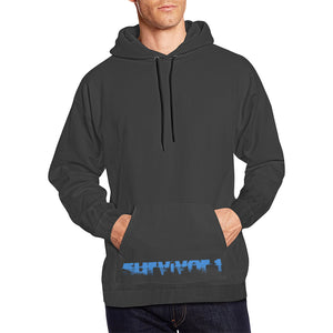 Black and Blue Text ® Men's All Over Print Hoodie Large Size (USA Size) (Model H13)