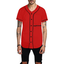 Red Jersey With Black Survivor 1 Text and Design Men's All Over Print Baseball Jersey (T50)