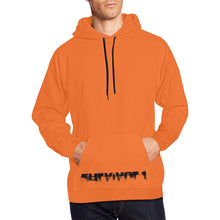 Orange and Black Text ® Men's All Over Print Hoodie Large Size (USA Size) (Model H13)