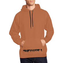 Brown and Black Text ® Men's All Over Print Hoodie Large Size (USA Size) (Model H13)