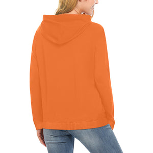 Orange and Black Survivor 1 Text ® Women's All Over Print Hoodie (USA Size) (Model H13)