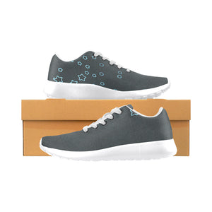 Black Design With Blue Stars Women's Sneakers (Model020) (Large Size)