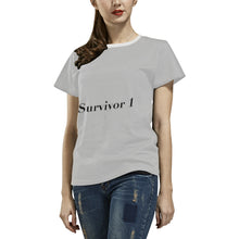 Survivor 1 ® Women's All Over Print T-shirt (USA Size) (Model T40) (Large Size)