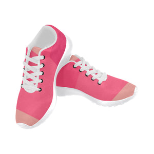 Shades of Pink Women's Sneakers (Model020) (Large Size)
