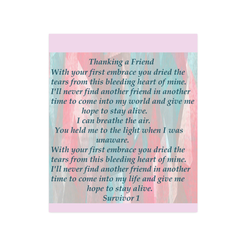Thanking a Friend Poem © Poster 20