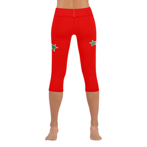 Red and Blue Stars © All-Over Low Rise Capri (Model L09) (Outside Serging)