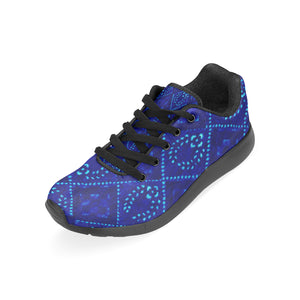 Blue Laurel Wreath Designs In Diamonds Survivor 1 Men's Sneakers (Model020) (Large Size)