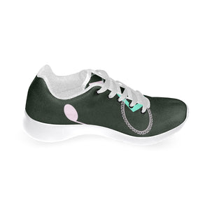 Black Diamond and Circle Note Design Women's Sneakers (Model020) (Large Size)