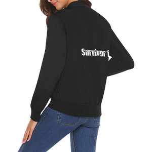 Survivor 1 White Text On Back ® Women's All Over Print Casual Jacket (Model H19)