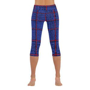 Red, Blue and Black Box Design © All-Over Low Rise Capri (Model L09) (Outside Serging)