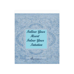"Decorative Blue Intuition Poster © Poster 20""x24"""