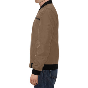 Brown and Black Survivor 1 Text ® Men's All Over Print Casual Jacket (Model H19) (Large Size)