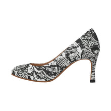 Black and White Shell Design Women's Pumps (Model 048)