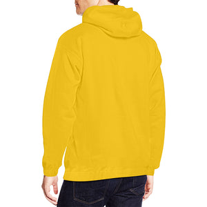 Yellow and Black Text ® Men's All Over Print Hoodie Large Size (USA Size) (Model H13)