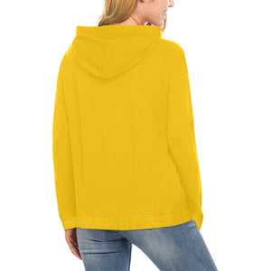 Yellow and Black Survivor 1 Text ® Women's All Over Print Hoodie (USA Size) (Model H13)