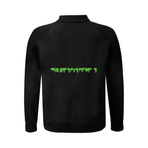 Survivor 1 Green Text On The Back © Men's Baseball Jacket(USA Size) (Model H12)