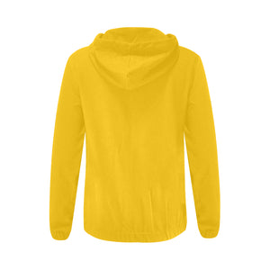 Yellow Sweater With White Survivor 1 Text Women's All Over Print Full Zip Hoodie (Model H14)