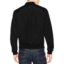 White and Black Survivor 1 Text ® Men's All Over Print Casual Jacket (Model H19) (Large Size)