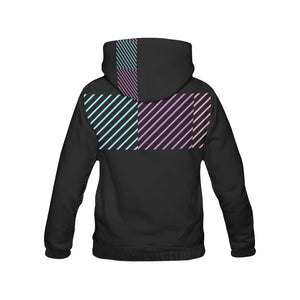 Purple, Pink and Blue Colour Lines With Survivor 1 Text ® Women's All Over Print Hoodie (USA Size) (Model H13)