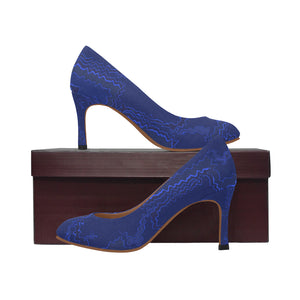 Blue Streak Design Women's Pumps (Model 048)