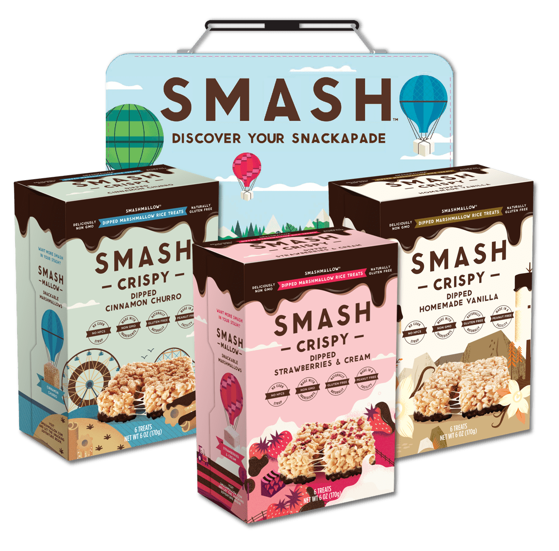 Smashcrispy Dipped Lunchbox Sampler