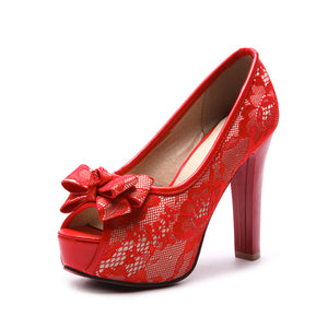 BONJOMARISA Red Pumps by Jackie Boatwright. Curated, affordable fashion.