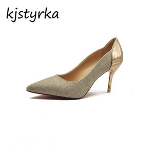Kjstyrka Brand Designer Shoes Woman elegant Ladies 5cm thin High Heels Women pumps red bottom pumps zapatos mujer