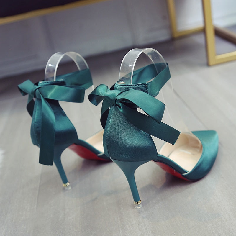 Spring New Women Pumps Pointed Toe Red