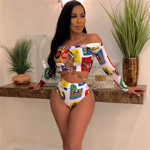Fashion Lace Up Crop Tops Summer Two Piece Set sundress Sexy club 2 Piece Set Beachwear Bathing Suit tracksuit Women beachwear
