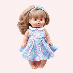 DOLL Sweetheart Dress + bow - Ellia